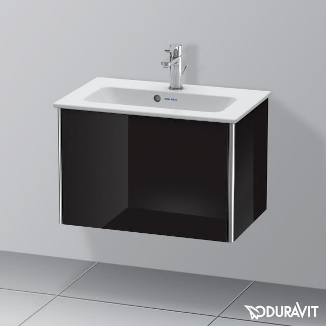Duravit XSquare Waschtischunterschrank Compact mit 1 Auszug Front schwarz hochglanz / Korpus schwarz hochglanz, ohne Einrichtungssystem