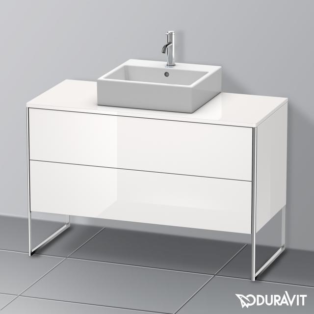 Duravit XSquare Waschtischunterschrank für Konsole mit 2 Auszügen Front weiß hochglanz / Korpus weiß hochglanz, mit Einrichtungssystem Ahorn