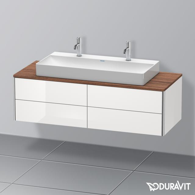 Duravit XSquare Waschtischunterschrank für Konsole mit 4 Auszügen Front weiß hochglanz / Korpus weiß hochglanz, ohne Einrichtungssystem
