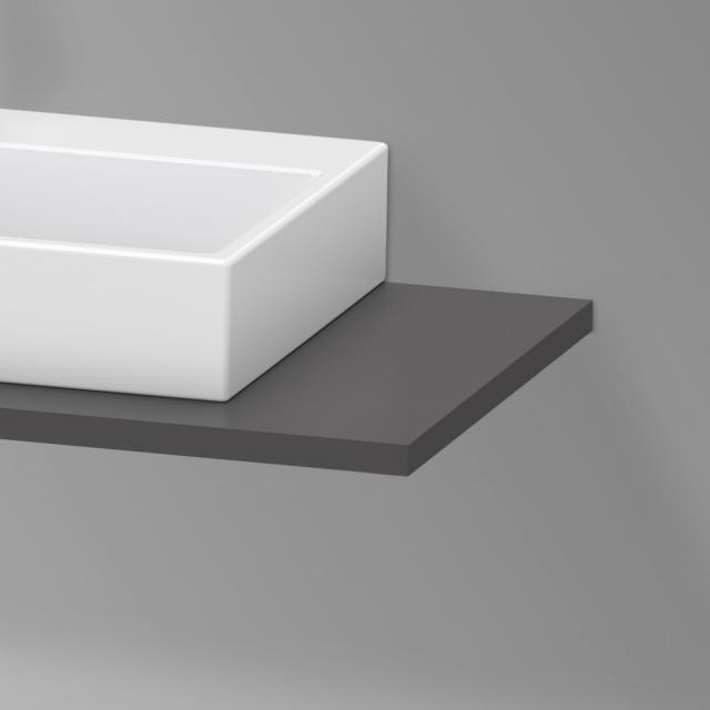 Duravit XViu Konsole für 1 Aufsatz-/Einbauwaschtisch graphit matt