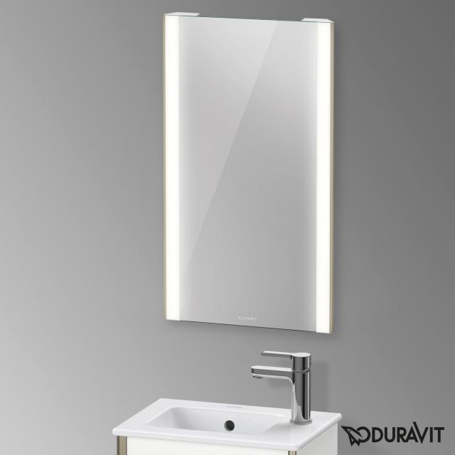 Duravit XViu Spiegel mit LED-Beleuchtung, Sensor Version champagner matt