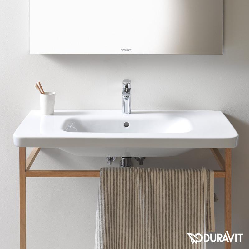 duravit durastyle m belwaschtisch wei mit wondergliss mit 1 hahnloch mit berlauf. Black Bedroom Furniture Sets. Home Design Ideas