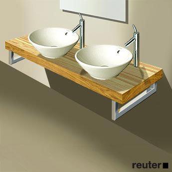 duravit fogo konsole f r 2 aufsatzbecken und einbauwaschtische amerikanischer nussbaum. Black Bedroom Furniture Sets. Home Design Ideas