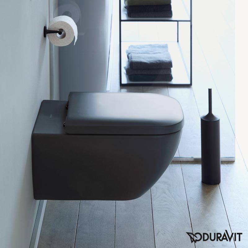 Duravit Happy D 2 Wand WC rimless anthrazit matt mit