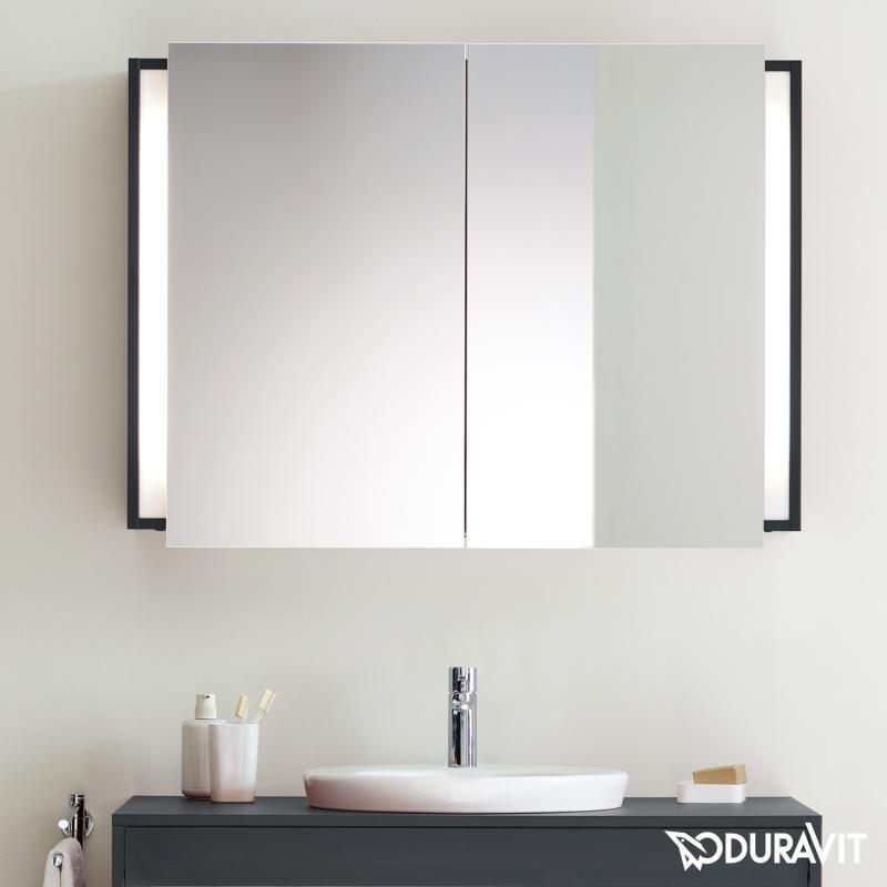 duravit ketho spiegelschrank mit beleuchtung graphit matt kt753204949 reuter. Black Bedroom Furniture Sets. Home Design Ideas