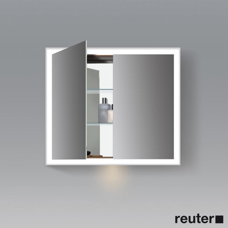 duravit l cube spiegelschrank mit led beleuchtung mit waschplatzbeleuchtung lc755100000. Black Bedroom Furniture Sets. Home Design Ideas