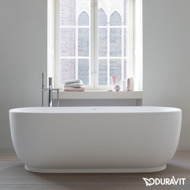 Duravit Luv freistehende Badewanne, mit nahtloser Verkleidung, mit ... | {Freistehende badewanne 2 personen 94}