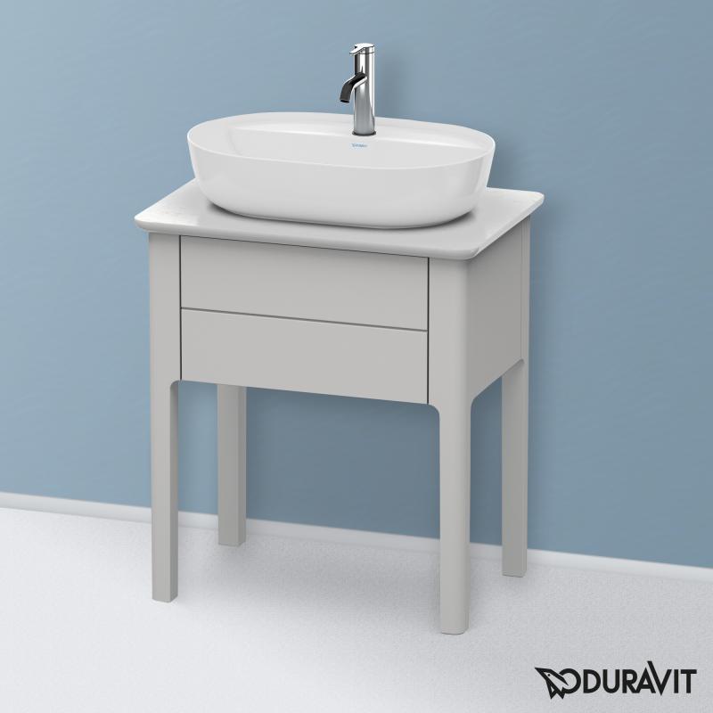 duravit luv waschtischunterschrank f r konsole mit 1 auszug front nordic wei seidenmatt. Black Bedroom Furniture Sets. Home Design Ideas