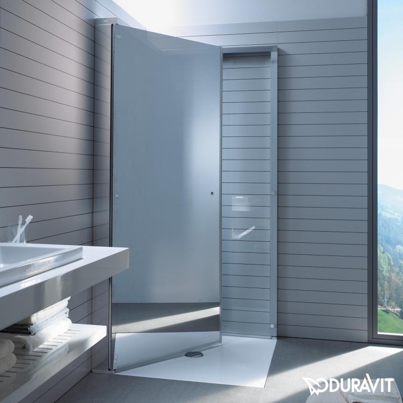 duravit openspace duschabtrennung klarglas und spiegelglas chrom 770002000100000 reuter. Black Bedroom Furniture Sets. Home Design Ideas