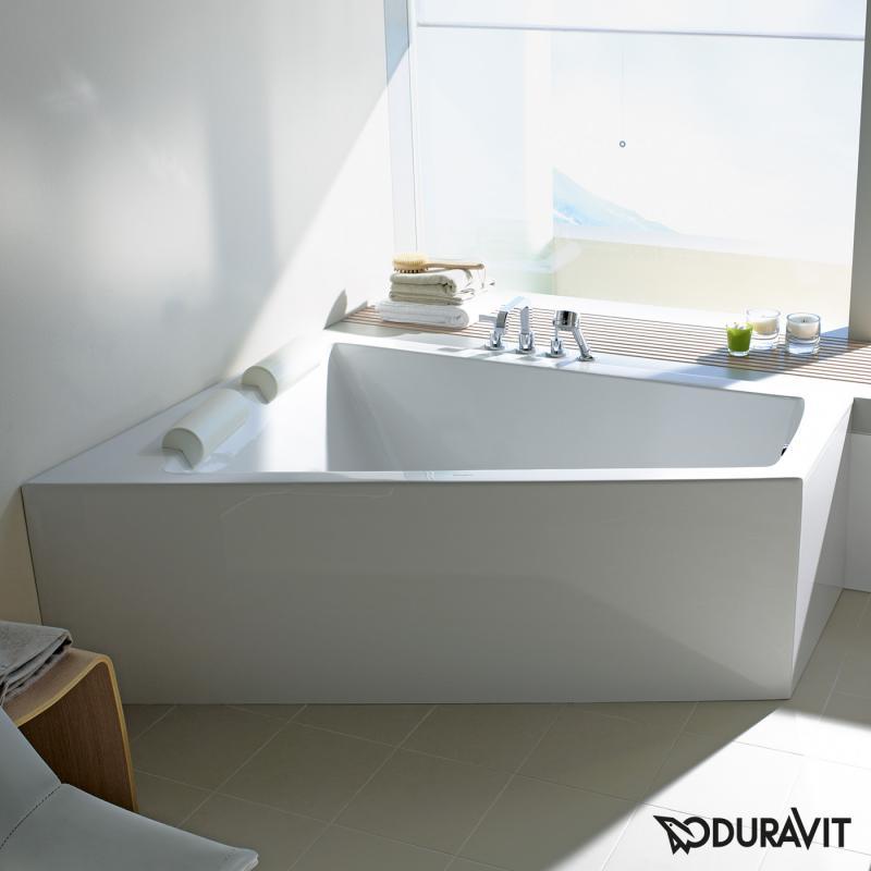 Badewanne freistehend ecke  Duravit Paiova Eck Badewanne, für Ecke links - 700266000000000 ...