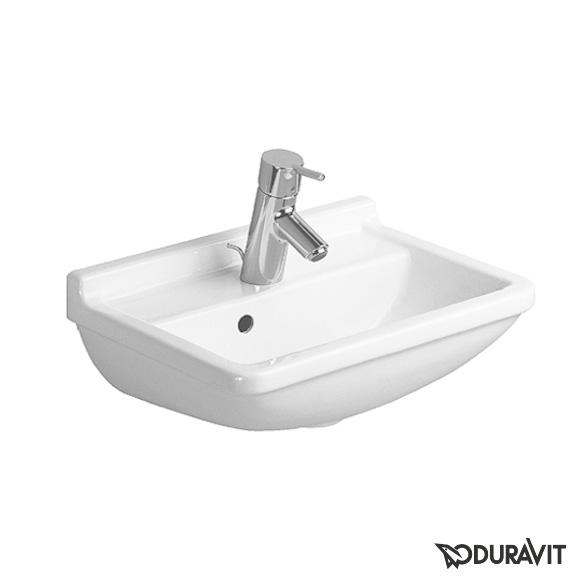 duravit starck 3 handwaschbecken wei mit 1 hahnloch mit berlauf 0750450000 reuter. Black Bedroom Furniture Sets. Home Design Ideas