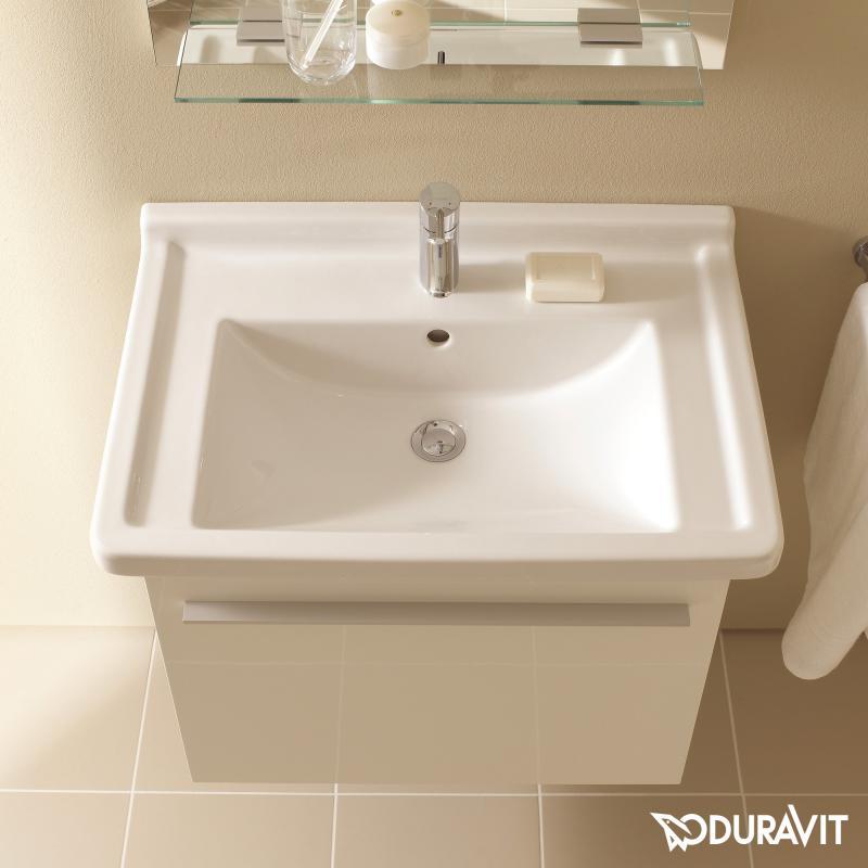 Duravit Starck 3 Waschtisch Weiß Mit 1 Hahnloch Ungeschliffen
