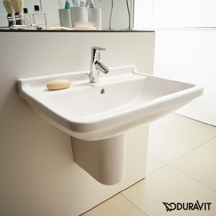 duravit starck 3 waschtisch wei mit wondergliss mit 1 hahnloch 03006000001 reuter. Black Bedroom Furniture Sets. Home Design Ideas