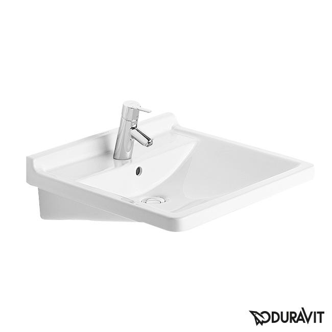 duravit starck 3 waschtisch vital barrierefrei wei mit wondergliss mit 1 hahnloch mit 1. Black Bedroom Furniture Sets. Home Design Ideas
