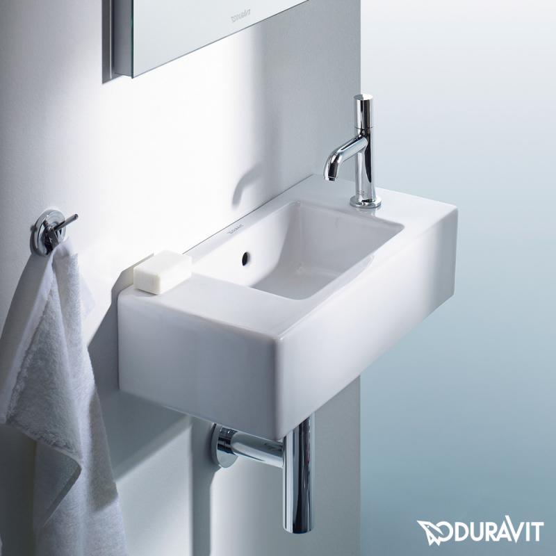 duravit vero handwaschbecken wei mit 1 hahnloch 0703500008 reuter. Black Bedroom Furniture Sets. Home Design Ideas