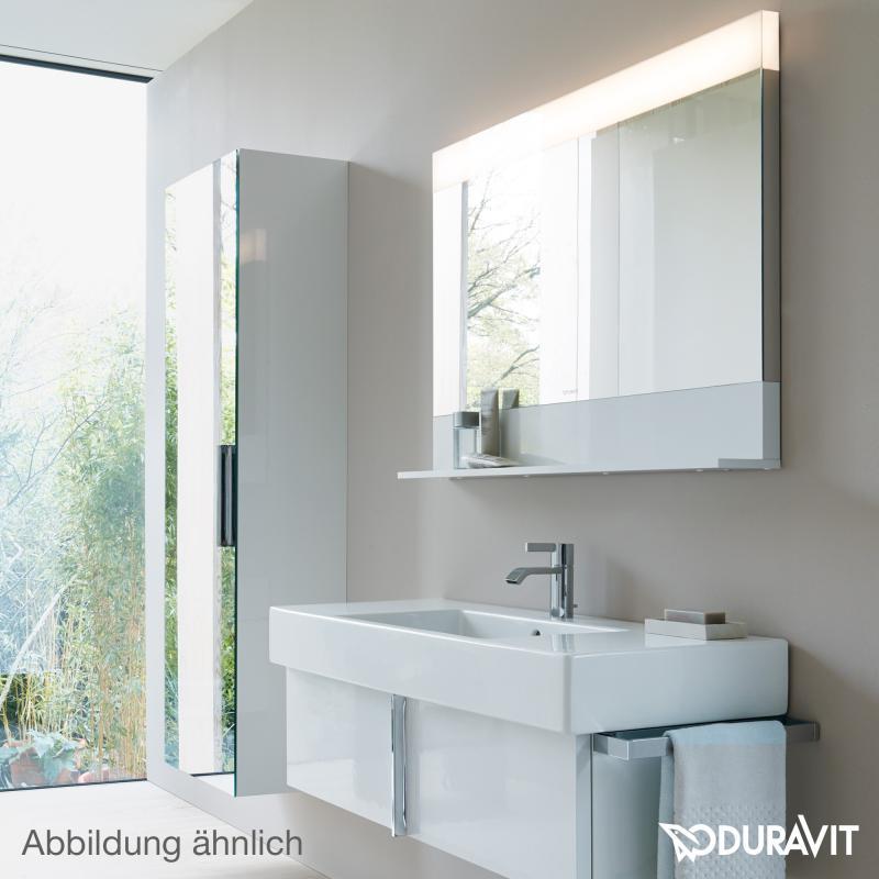 Duravit Vero Spiegel mit LED-Beleuchtung, Ablagefläche unten ... | {Spiegel mit beleuchtung und ablage 91}