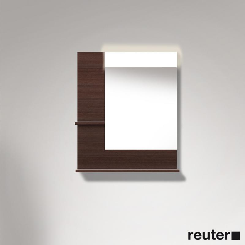 duravit vero spiegel mit led beleuchtung ablagefl chen unten links kastanie dunkel. Black Bedroom Furniture Sets. Home Design Ideas