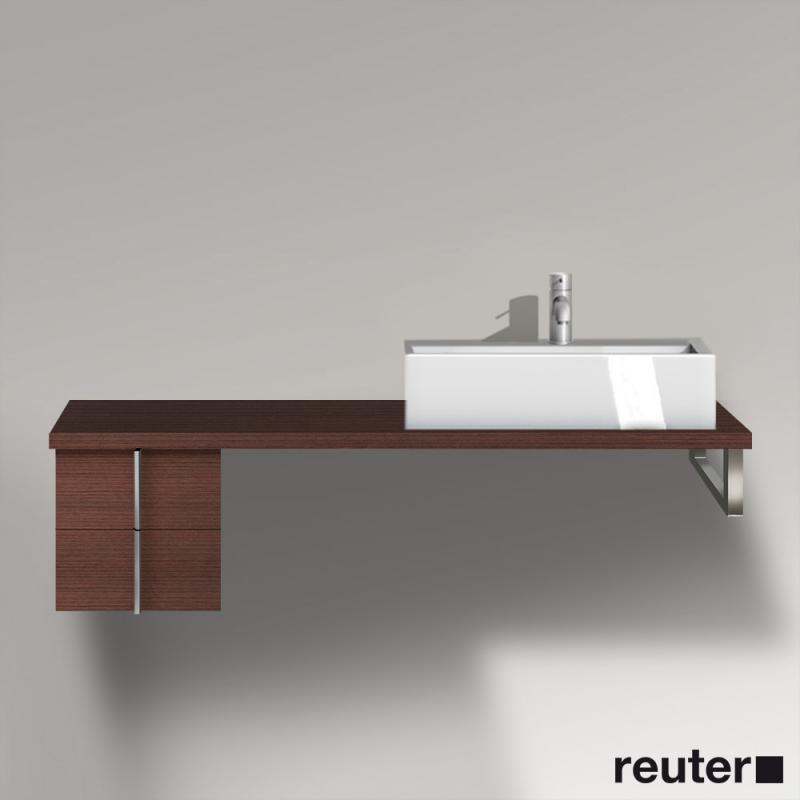 duravit vero unterschrank f r konsole mit 2 ausz gen kastanie dunkel ve657605353 reuter. Black Bedroom Furniture Sets. Home Design Ideas