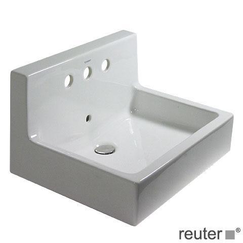 duravit vero waschtisch wei mit 3 hahnl chern mit berlauf 0453600000 reuter. Black Bedroom Furniture Sets. Home Design Ideas