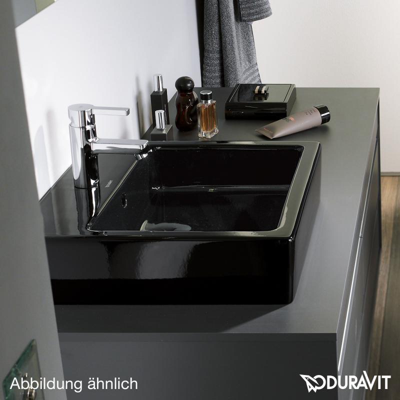 duravit vero waschtisch schwarz mit wondergliss ohne hahnloch geschliffen mit berlauf. Black Bedroom Furniture Sets. Home Design Ideas