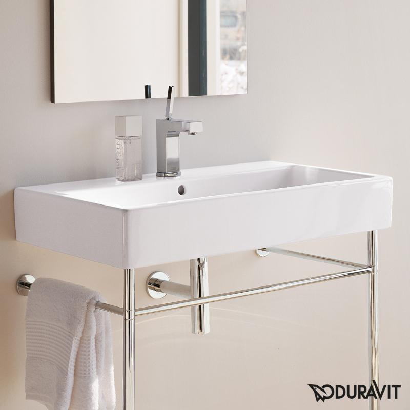 duravit vero waschtisch wei mit 1 hahnloch ungeschliffen mit berlauf 0454800000 reuter. Black Bedroom Furniture Sets. Home Design Ideas