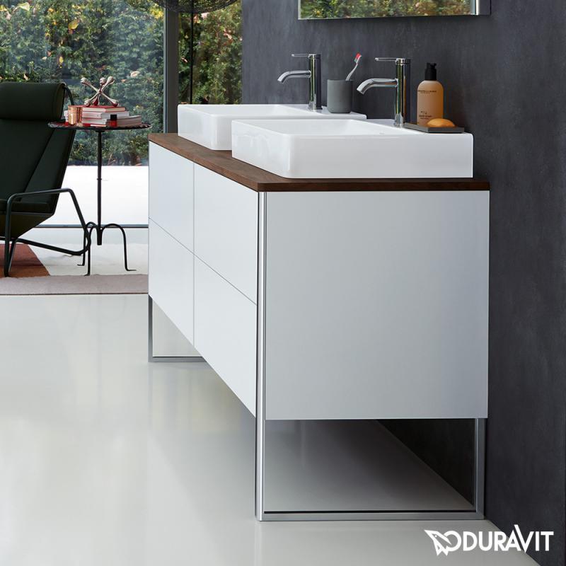 duravit xsquare konsole f r 2 aufsatz einbauwaschtische wei hochglanz xs063hb2222 reuter. Black Bedroom Furniture Sets. Home Design Ideas