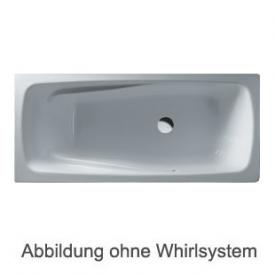 Duscholux Ancona Free-line 118 Rechteck Badewanne Whirlpool, Ab- und Überlaufgarnitur, Fußgestell