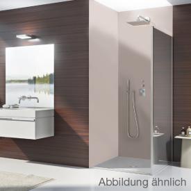 Duscholux Bella Vita 3 Seitenwand für Pendel- und Drehfalttür ESG klar mit CareTec / platinum silber