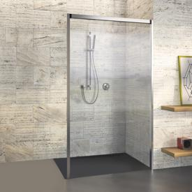Duscholux Bella Vita 3 Seitenwand für Schiebetür ESG klar mit CareTec / platinum silber