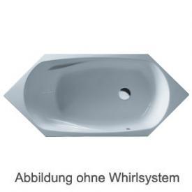 Duscholux Cordoba Free-line 534 6-Eck Badewanne Whirlpool, Ab- und Überlaufgarnitur, Fußgestell