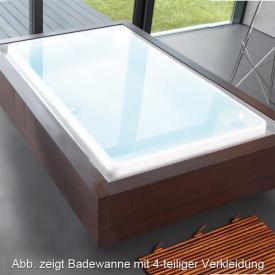 Duscholux Caprivi Free Rechteck Badewanne, mit Überlaufrinne weiß