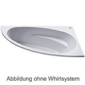 Duscholux MALAGA 471 Eck Badewanne Whirlpool, Ab- und Überlaufgarnitur, Fußgestell