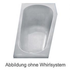 Duscholux PICCOLO 164 Kleinraum Badewanne Whirlpool, Ab- und Überlaufgarnitur, Fußgestell