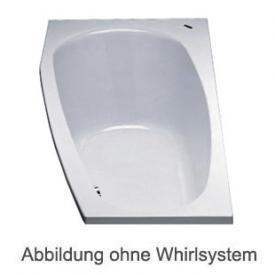 Duscholux PICCOLO 167/173 Kleinraum Badewanne Whirlpool, Ab- und Überlaufgarnitur, Fußgestell