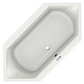 Duscholux Prime-Line Sechseck-Badewanne weiß