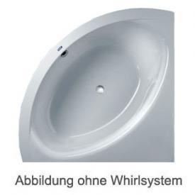 Duscholux SMART-line 30 Eck Badewanne Whirlpool, Ab- und Überlaufgarnitur, Fußgestell
