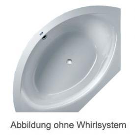 Duscholux SMART-line 31 Eck Badewanne Whirlpool, Ab- und Überlaufgarnitur, Fußgestell