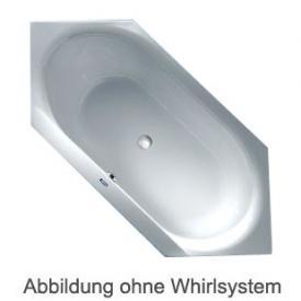 Duscholux SMART-line 32 6-Eck Badewanne Whirlpool, Ab- und Überlaufgarnitur, Fußgestell