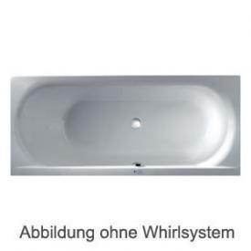 Duscholux SMART-line Rechteck Badewanne Whirlpool, Ab- und Überlaufgarnitur, Fußgestell