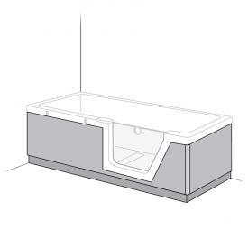 Duscholux Step-In Pure Schürze PanElle, Front-, Rücken und Fußteil für 608300100 L: 170 B: 75 cm