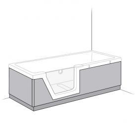 Duscholux Step-In Pure Schürze PanElle, Front-, Rücken und Fußteil für 608300200 L: 170 B: 75 cm