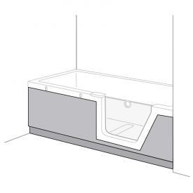 Duscholux Step-In Pure Schürze PanElle, Frontteil für 608300100