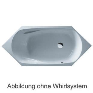 Duscholux Cordoba Free-line 534 6-Eck Badewanne L: 200 B: 85 H: 45,5 cm weiss CPL 1 Whirlsystem