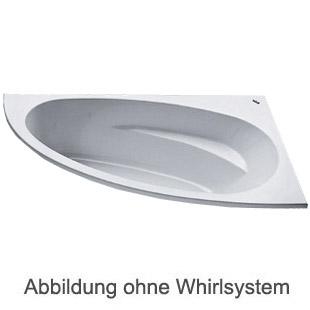Duscholux MALAGA 471 Eck Badewanne L: 175 B: 110 H: 45 cm weiss CPL 1 Whirlsystem