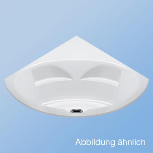 Duscholux MALAGA Trend 445 Eck Badewanne L: 150 B: 150 H: 46,5 cm weiss CPL 1 Whirlsystem