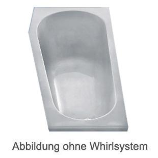 Duscholux PICCOLO 163 Kleinraum Badewanne L: 160 B: 75 H: 45 cm weiss CPL 1 Whirlsystem