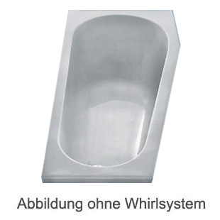 Duscholux PICCOLO 164 Kleinraum Badewanne L: 160 B: 75 H: 45 cm weiss CPL 1 Whirlsystem