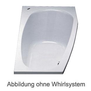 Duscholux PICCOLO 174 Kleinraum Badewanne L: 175 B: 75 H: 45 cm weiss CPL 1 Whirlsystem