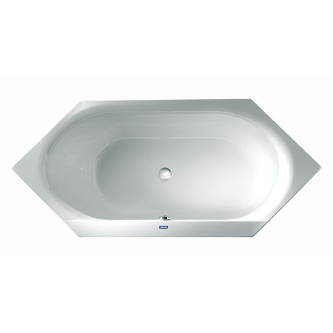 Duscholux SMART-line Sechseck Badewanne weiß