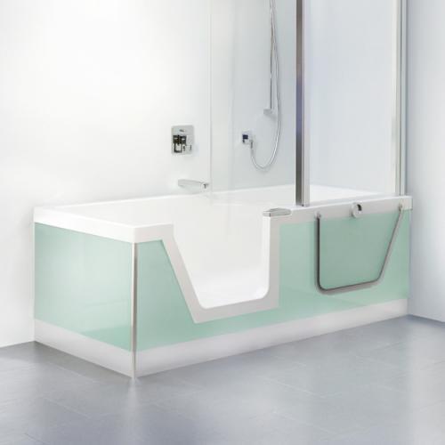 duscholux step in pure badewanne mit entnehmbarem t reinsatz einbau ecke links 608300200001. Black Bedroom Furniture Sets. Home Design Ideas
